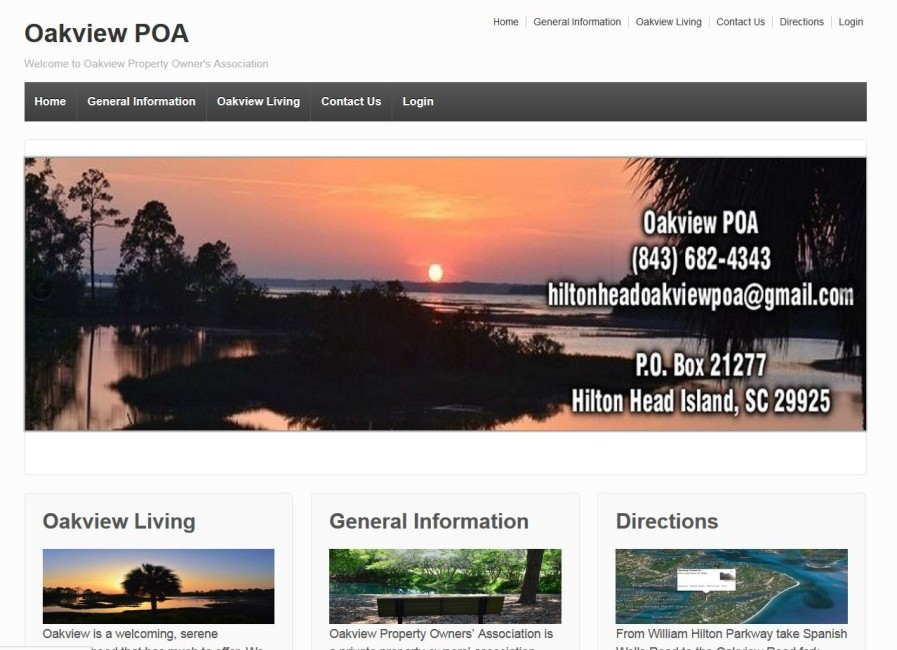 Property Owners Hilton Head - Website Design