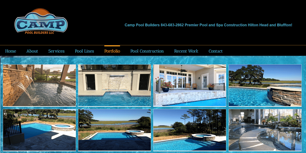 By Marketing Solutions HHI, Camp Pool Builders, Swimming Pools Hilton Head, Website  Design