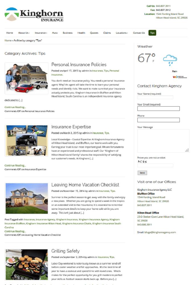 Portfolio - Kinghorn Insurance Agency 1
