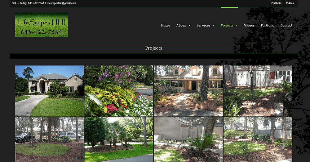 Lifescapes HHI, Landscaping Website Design