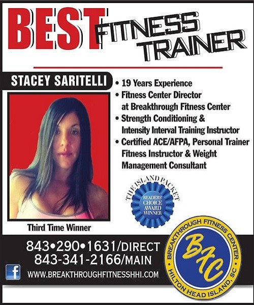 Stacey Saritelli, Breakthrough Fitness Hilton Head Readers Choice