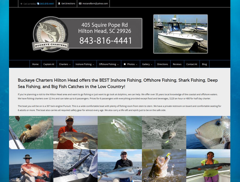 Charter fishing hilton head website design marketing for Fish camp hilton head