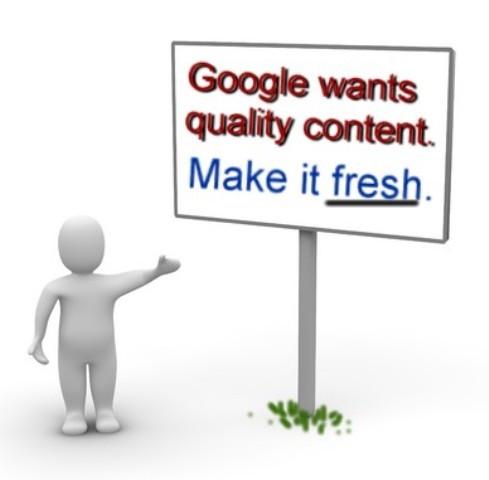 Google Wants Fresh Content