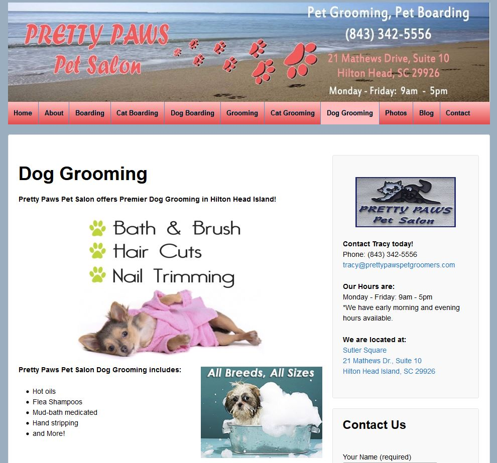 pretty paws - dog grooming